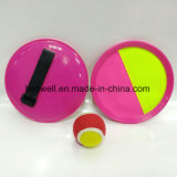 Juguetes Magic Tape Ball Paddle Catch y lanzar Juego Set 20,5 cm Handheld Stick Disc