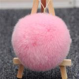 Fourrure de lapin coloré Pompons Trousseau / boule de fourrure de chaîne de clé
