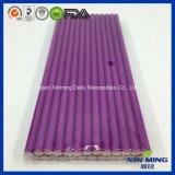 Paja de papel púrpura del llano de la decoración de la fuente del banquete de boda