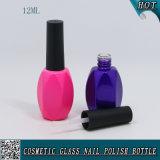 12ml Botella de vidrio vacía de color rosa con tapa de tornillo