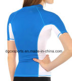 Lady's Lycra Rash Guard avec protection UV