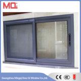 Fenêtre coulissante en aluminium de couleur blanche