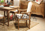 Jogo rústico provincial francês da tabela de jantar da madeira contínua da mobília