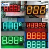 Voyant LED de l'essence de la publicité de plein air de l'écran LED étanche signes du prix du gaz pour le gaz Station numérique