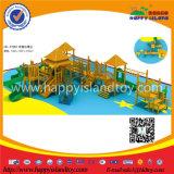 As crianças atraente parque infantil exterior de madeira de escalada com Net