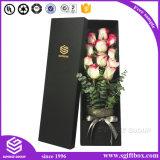 Logo de l'emballage personnalisé de luxe de l'impression papier Fleur Rose Boîte cadeau