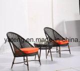 Alto balcón al aire libre del hotel de los muebles de Qaulity del precio barato fijado con el vector de Chair& usando para el jardín (YT1026)