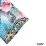 Miss You Ailinna 102712 colorido impreso de mediana edad vestido de lino