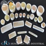 Crogiolo di ceramica cilindrico o conico di elevata purezza del corindone Al2O3 dell'allumina per fusione dei metalli in laboratorio