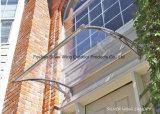 Pabellón plástico del corchete de la fibra de vidrio del toldo de la puerta del policarbonato con el canal del agua (YY-L)