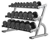 aptitud, lifefitness, máquina de la fuerza del martillo, estante de la pesa de gimnasia de tres gradas - DF-8020