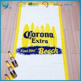 Tovagliolo di spiaggia su ordinazione stampato reattivo dell'OEM di qualità del velluto di lusso del cotone