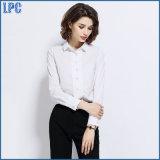 Рубашка втулки профессионального хлопка способа белая длинняя