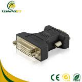 Femelle personnalisée de PVC à l'adaptateur mâle du convertisseur DVI de pouvoir du VGA