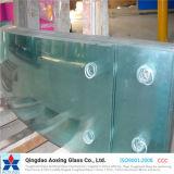Curvado/dobrou vidro endurecido/Tempered para o edifício/mobília com CCC