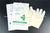Ровные и грубые, Non-Sterile перчатки рассмотрения латекса с CE, ISO,
