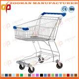クロムまたは亜鉛鋼鉄記憶装置のカートのスーパーマーケットのショッピングトロリー(Zht80)