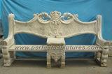 Chaise de jardin en marbre en pierre pour meubles de jardin antique (QTC004)