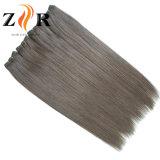 Prolonge de trame dessinée normale de cheveu témoin de cheveux humains de couleur foncée
