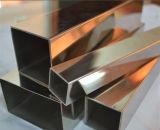 Tubo del cuadrado del acero inoxidable del final de 304 espejos