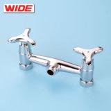 Plaqué chrome UPC certifié baignoire double poignée du robinet