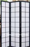 Couleur naturelle du papier de riz Non-Woven bon marché et de bois de style japonais Shoji de pliage de l'écran du panneau de diviseur de la salle X 3