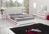 Круглая кровать спальни с шкафом