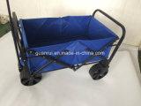 Brinquedo de serviço público do Buggy do jardim do carro dobrável azul do vagão da dobra