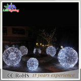 Indicatori luminosi di natale di motivo LED della sfera 3D della decorazione della via di festa