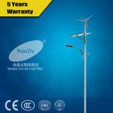 Réverbère solaire de l'hybride DEL de vent avec la qualité