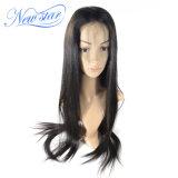 Peluca llena del cordón de la nueva de la estrella de la venta al por mayor de la Virgen densidad recta del pelo humano el 130%