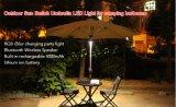 Luz de guarda-chuva LED com banco de potência e alto-falante