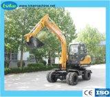 La construcción de la excavadora de rueda hidráulica excavadora con la capacidad de giro de 360 grados
