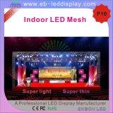 P10 LED SMD 3528 cortina de malla para interiores, las etapas