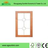 Panneaux de plastique de porte de Module de cuisine en verre givré