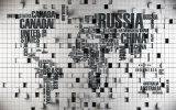 壁のための英国の文字のBackgrondデザイン油絵