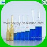 Freie und bernsteinfarbige medizinische Glasampulle