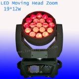 Горячие сбывания 19X12W RGBW 4in1 с светом сигнала СИД Moving головным