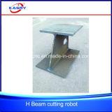 CNC血しょうH I Uビーム整形鋼鉄母屋の切断の斜角が付くあく対処の機械装置