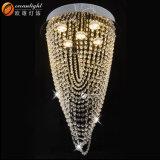 GU10/LED lasca a luz morna de suspensão Om4200 do pendente do candelabro de cristal da corda