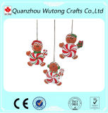 Artigianato la decorazione dell'albero dei regali di natale della resina di disegno dell'uomo di pan di zenzero