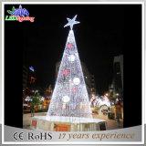 Árvores de Natal claras ao ar livre do diodo emissor de luz da estrela 5m do ornamento do feriado