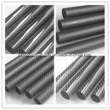 Resina de epoxy 14m m de la alta calidad de los tubos de la fibra del carbón