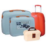 強いPP旅行トロリー荷物の荷物はセットした(NL415)