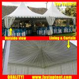 Tenda bianca del Pagoda dell'alto picco del PVC dell'alluminio per l'ospite di Seater delle 150 genti