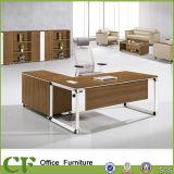 Mesa de escritório moderna do pé do metal de Offic Efurniture dos CF com armário lateral