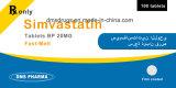 La simvastatine de médecine de Westren marque sur tablette la médecine Pharma pour l'être humain
