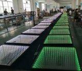 직업적인 단계 시각적인 충격 RGB 3D LED 디스코 위원회 도와 댄스 플로워 빛