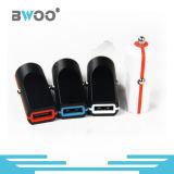 Портативный цветастый одиночный заряжатель телефона заряжателя автомобиля USB