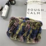 Зимний мех Headbands для женщин вязаные Rex кролик меховые шарфы